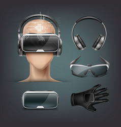 virtual reality gadgets vector image