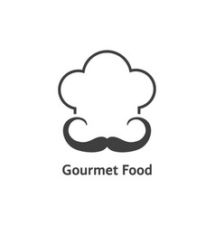 Black gourmet food logo vector