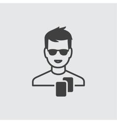 Casino boy icon vector image vector image