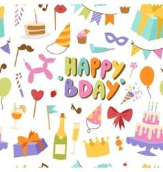 Happy birthday seamless pattern vector image