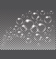 Realistic isolated soap bubbles for vector