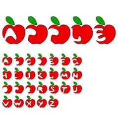 apple alphabet vector image vector image