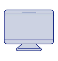 blue silhouette of screen monitor vector image vector image