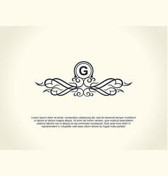 calligraphic luxury line logo flourishes elegant vector image vector image