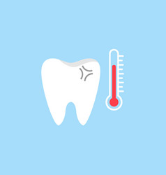 sensitive tooth flat icon vector image vector image