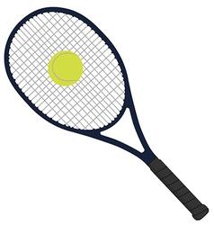 Tennis racket with tennis ball vector image vector image
