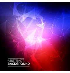 Abstract Low poly Molecule And Communication vector image
