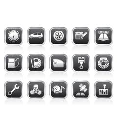 Car parts and characteristics icons vector