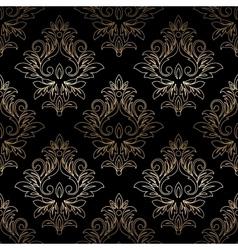 Damask seamless floral pattern Royal wallpaper vector image