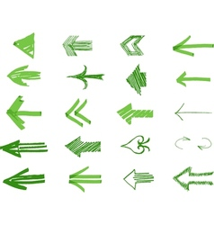 Drawn Arrows vector image