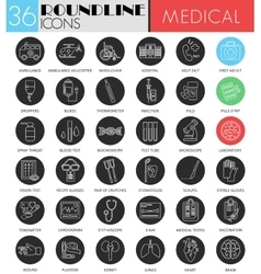 Medical medicine circle white black icon vector image vector image