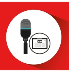 technology digital tablet microphone news vector image