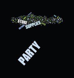 The party store text background word cloud concept vector