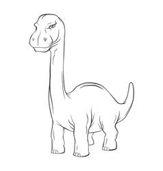 apatosaurus dinosaur long neck creature monster vector image