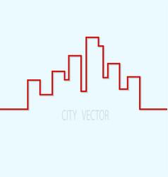 city contour on a blue background design element vector image