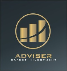 finance adviser logo vector image vector image