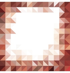 Frame for text made od brown triangles vector image vector image