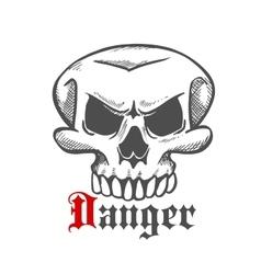 Halloween ghost or monster skull sketch symbol vector image vector image