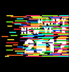 happy new year 2017 quote typography design vector image vector image