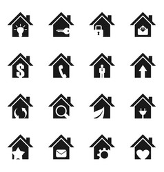 home icon6 vector image