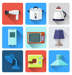household appliances and electronic vector image