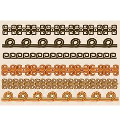 Native American pattern border set vector image vector image
