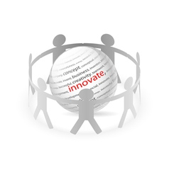 People Chain innovate vector image
