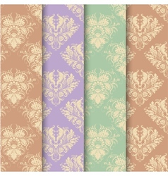Set of seamless background in vintage style vector image vector image