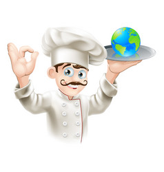 world on a plate vector image vector image