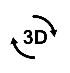 3d icon on white background 3d sign vector image