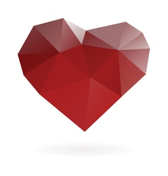 abstract heart symbol low poly vector image