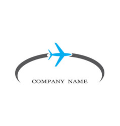 Airplane symbol icon vector