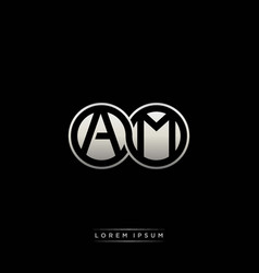 Am initial letter linked circle capital monogram vector