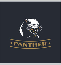 angry panther vector image