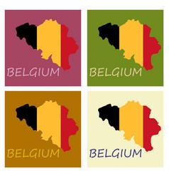 belgium map with shadow effect vector image