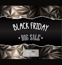 Black friday sale polygonal background vector