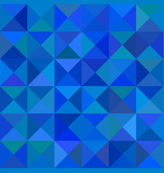 Blue triangle mosaic background - graphic vector