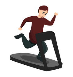 boy at treadmill icon cartoon style vector image