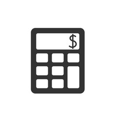 calculator black icon vector image