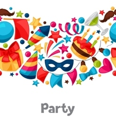 Carnival show and party seamless pattern with vector