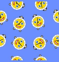 cartoon funny alarm clock vector image