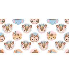 Cute animals pattern vector