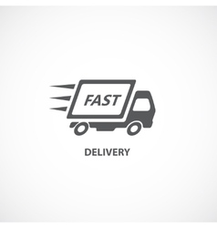 delivery icon silhouette vector image