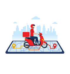 delivery-man vector image
