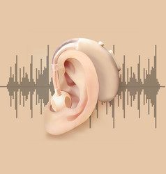 Digital hearing aid behind the ear ear and sound vector