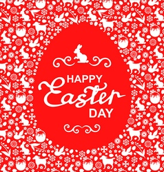 easter card egg red vector image