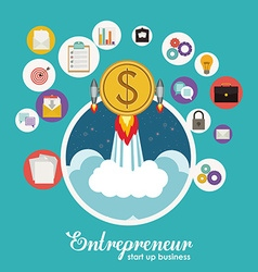 Entrepreneur design vector image