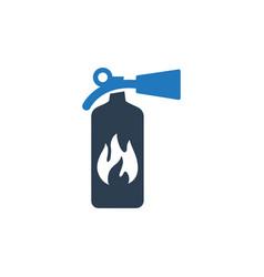 Extinguisher emergency icon vector