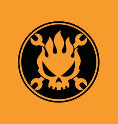 Flame skull vector