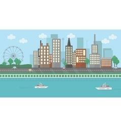 Flat design urban landscape vector